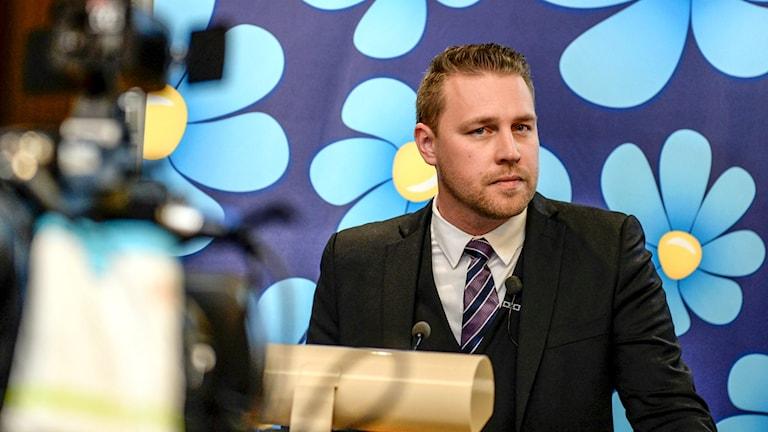 Tillförordnad partiledare Mattias Karlsson, SD.