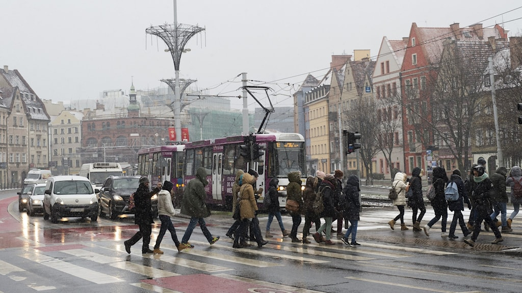 Arkivbild – staden Wroclaw i Polen.