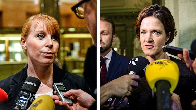 Annie Lööf (C) och Anna Kinberg Batra (M). Foto: Bertil Ericsson / Maja Suslin / TT.