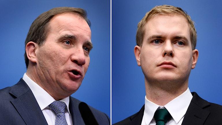 Stefan Löfven och Gustav Fridolin. Foto: TT