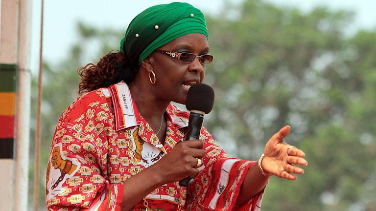 """Zimbabwes """"first lady"""" Grace Mugabe. Foto: Tsvangirayi Mukwazhi/AP/TT"""