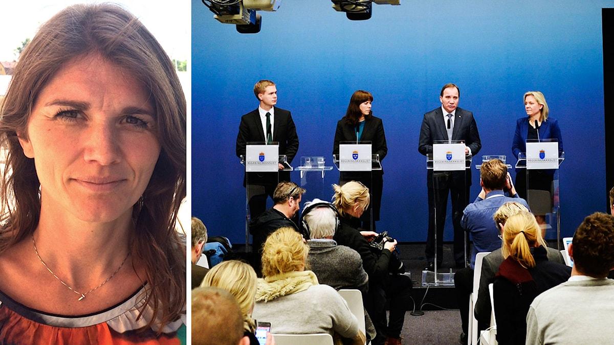 Regeringen håller presskonferens i Rosenbad. Foto: Pontus Lundahl/TT.