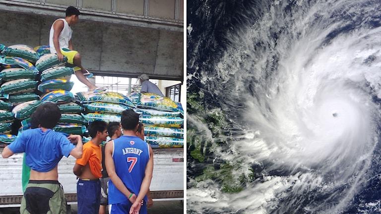 Filippinerna förbereder sig på tyfonen Hagupit. Foto: TT