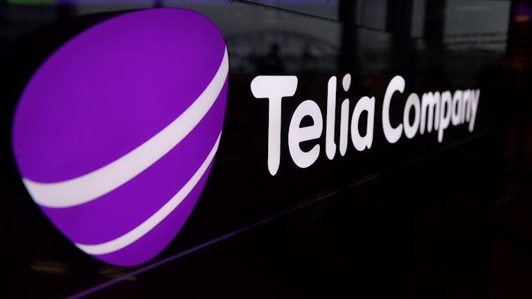 Telias logotyp med texten Telia Company bredvid..