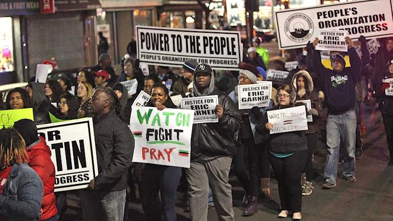 Demonstration i USA mot polisvåld. Foto: Kevin R. Wexler/TT.