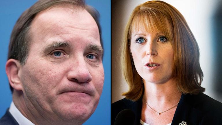 Statsminister Stefan Löfven och centerledaren Annie Lööf. Foto: TT