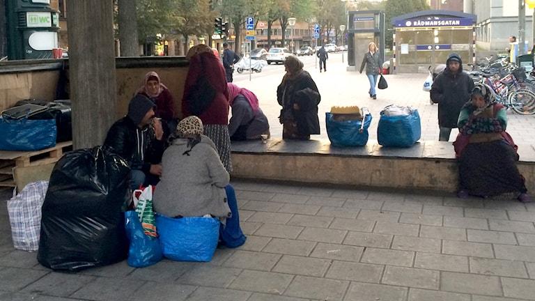 Platsen på Sveavägen där Titi, Jasar och flera andra rumänska tiggare brukar övernatta.