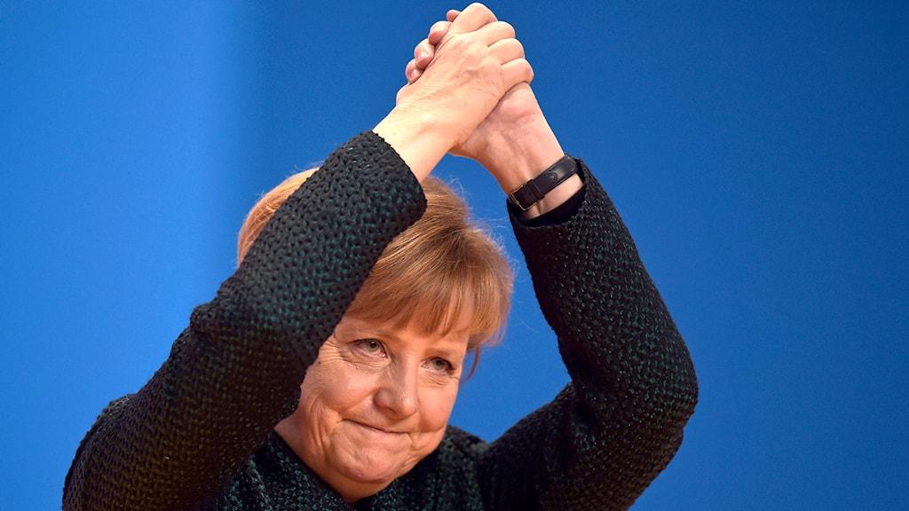 Angela Merkel, förbundskansler och partiledare för tyska partiet CDU. Foto: TT