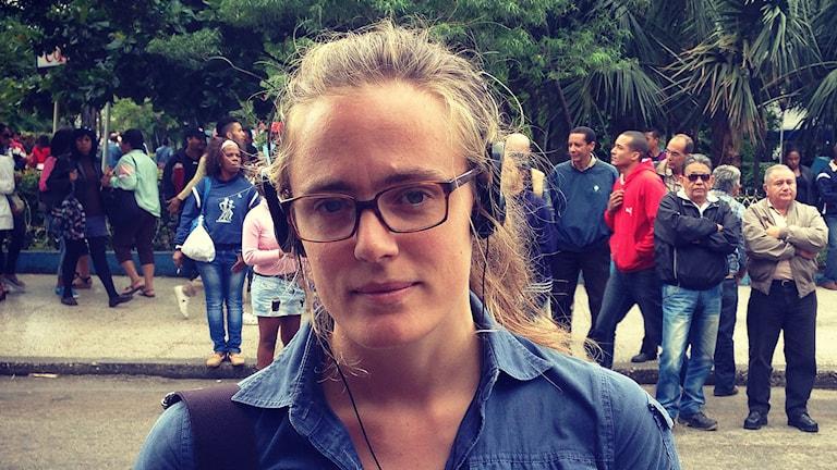 Lotten Collin i Kuba. Foto: Sveriges Radio.
