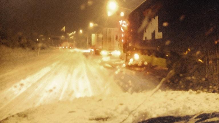 Tung snö i Jönköping. Foto: David Svanberg / Sveriges Radio