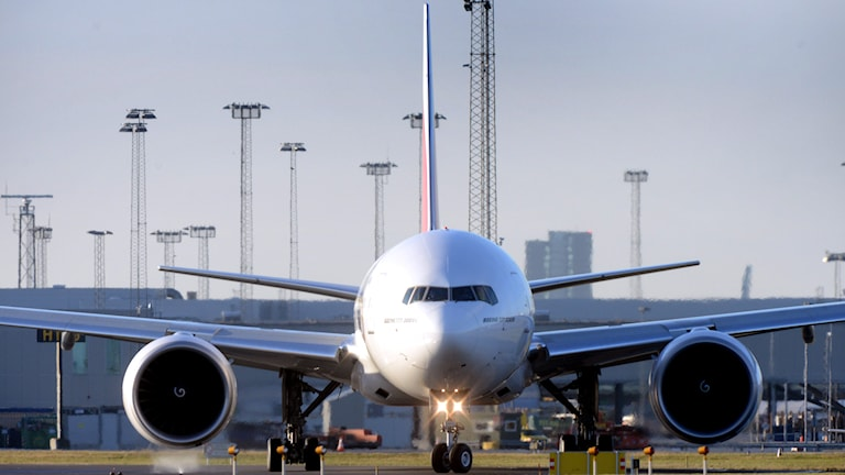 Civilflygplanet på Kastrup tvingades vända, för att undvika en eventuell kollision med det utländska militärflygplanet. Foto: TT