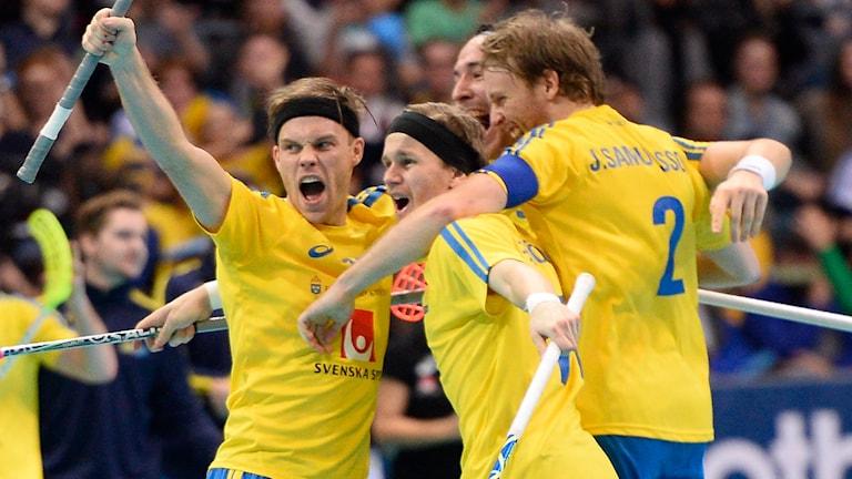Sverige innebandy. Foto: Fanni Olin Dahl/TT.