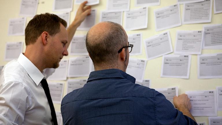 Kvinnoregistret. Reportrarna Bo Göran Bodin och Alexander Gagliano. Foto: Pablo Dalence / Sveriges Radio