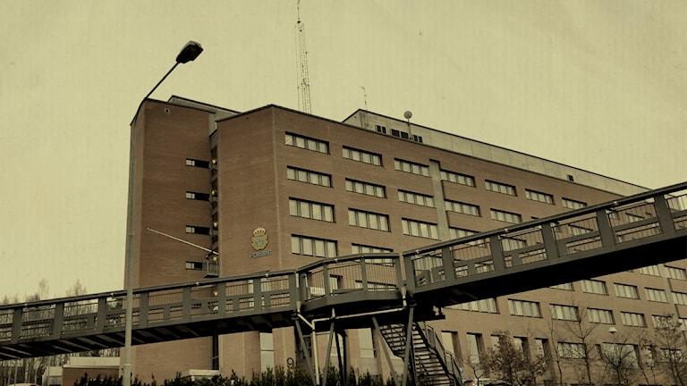 Polishuset Södertörn. Foto: Bo-Göran Bodin/Sveriges Radio.