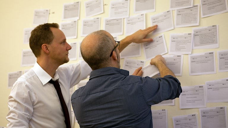 Ekots reportrar Bo-Göran Bodin och Alexander Gagliano. Foto: Pablo Dalence/Sveriges Radio.