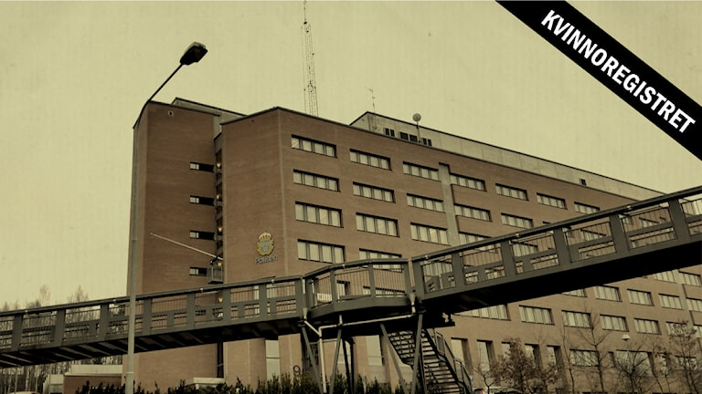 Kvinnoregistret. I polishuset i Flemingsberg förvarar Södertörnspolisen det hemliga kvinnoregistret. Foto: Bo Göran Bodin / Sveriges Radio