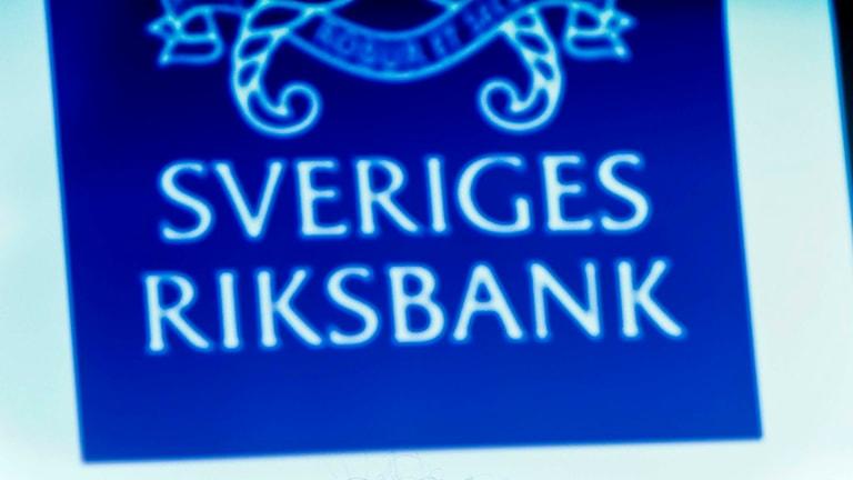 Logotyp Sveriges Riksbank. Foto: Jonas Ekströmer/TT.