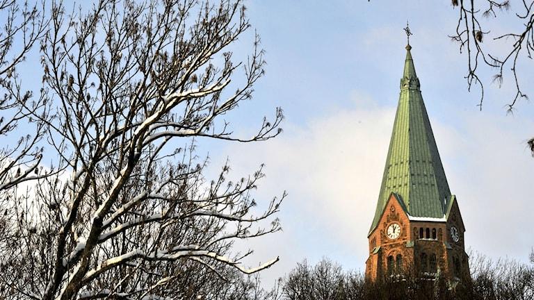Bild på kyrktorn. Foto: Hasse Holmberg /TT