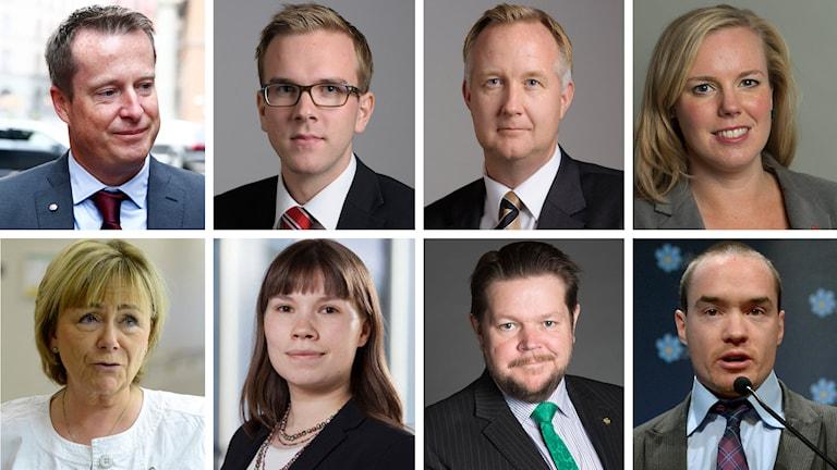 Riksdagspartiernas rättspolitiska talespersoner reagerar på kvinnoregistret. Foto: TT/pressfoto