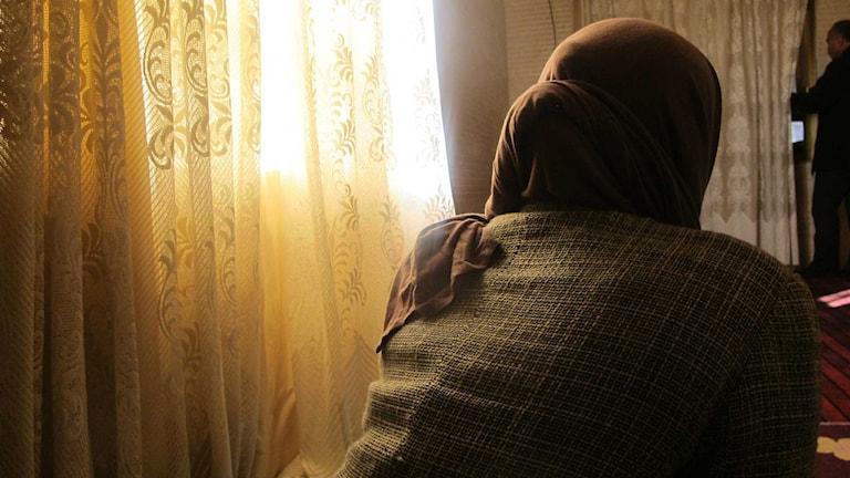 En ung yazidisk kvinna som sålts till IS. Foto: Katja Magnusson/Sveriges Radio.