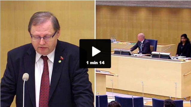Miljöpartiets Jan Lindblom, Björn Söder (SD)