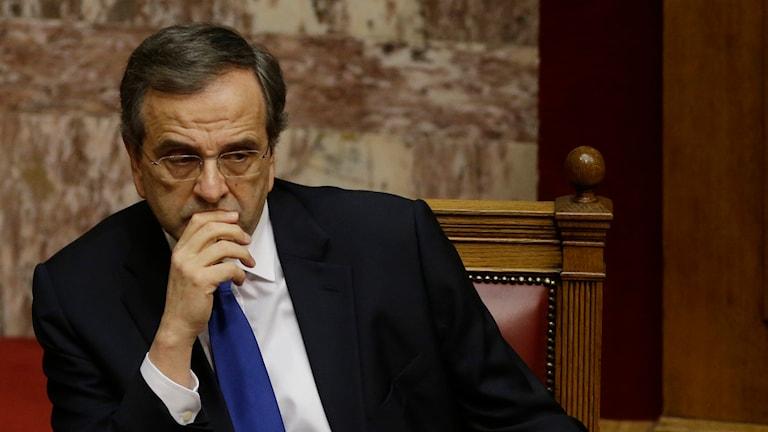Greklands premiärminister Antonis Samaras. Foto: TT