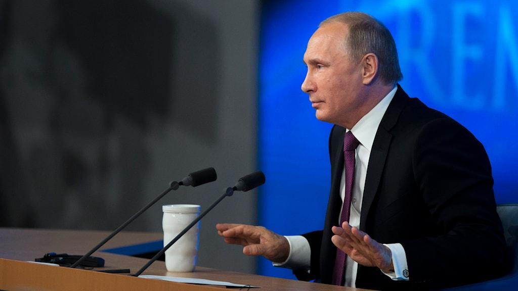 Rysslands president, Vladimir Putin. Foto: TT