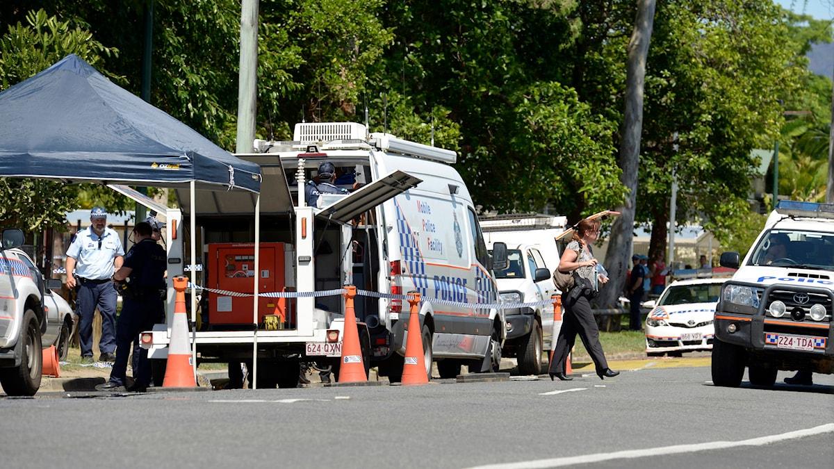 Flera barn hittades mördade i en förort till staden Cairns. Foto: Graeme Bint/TT.