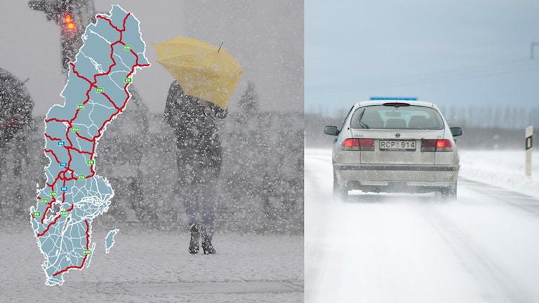 Jultrafiken risker att drabbas av oväder, enligt SMHI. Foto: TT / Motormännen