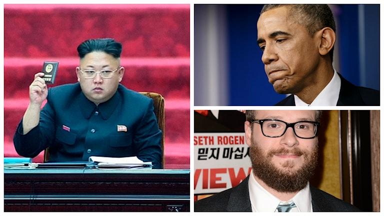 Konflikten kring Seth Rogen-filmen The Interview fortsätter. Nu hotar Nordkorea USA inför en eventuell vedergällning mot hackerattacken som Nordkorea misstänks ha utfört mot Sony. Foto: TT