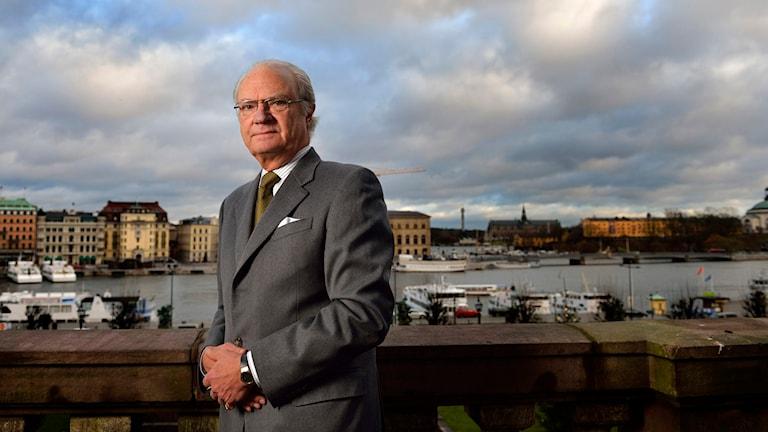 Kung Carl XVI Gustaf minns hur tsunamivågen drabbade svenska familjer. Foto: Henrik Montgomery/TT