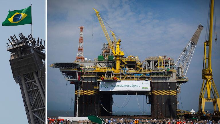 Petrobras oljeplattformen P-56 i Angra dos Reis i Brasilien. Foto: TT