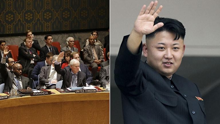 FN:s säkerhetsråd tar normalt inte upp frågor om mänskliga rättigheter. Foto: TT. Montage: Sveriges Radio.