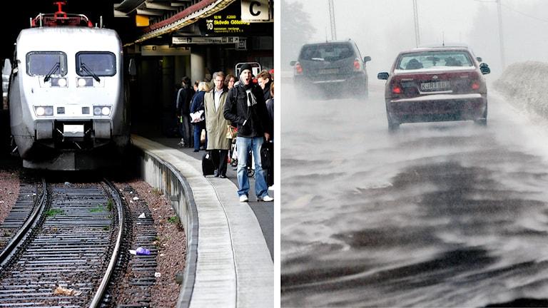 tåg, trafik, halka, förseninga