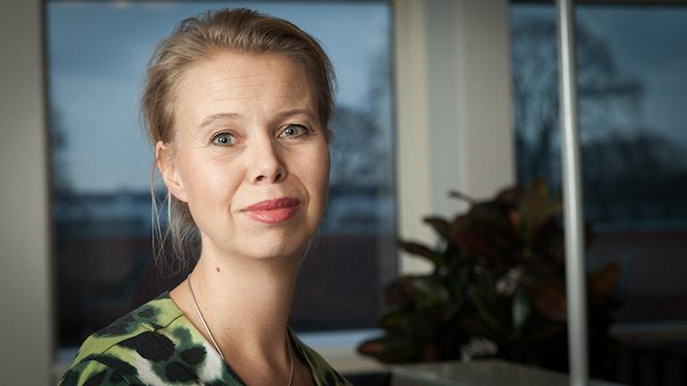 Anne Lagercrantz, Sveriges Radio Ekot, november 2014. Foto: Pablo Dalence/Sveriges Radio.