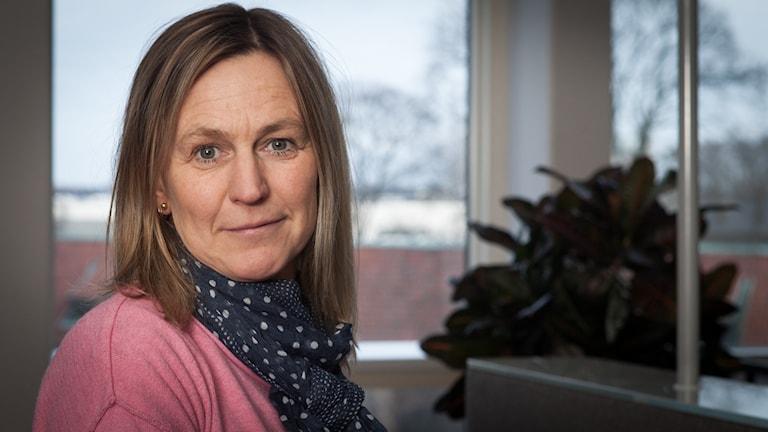 Carina Holmberg, Sveriges Radio Ekot, november 2014. Foto: Pablo Dalence/Sveriges Radio.