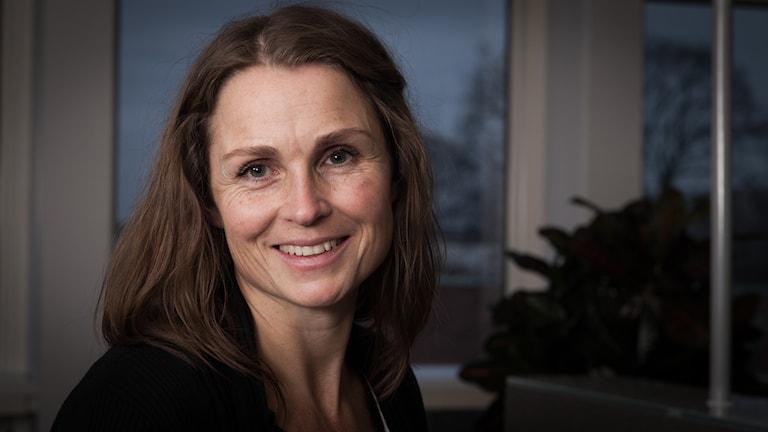 Charlotte Kärnerud, Sveriges Radio Ekot, november 2014. Foto: Pablo Dalence/Sveriges Radio.