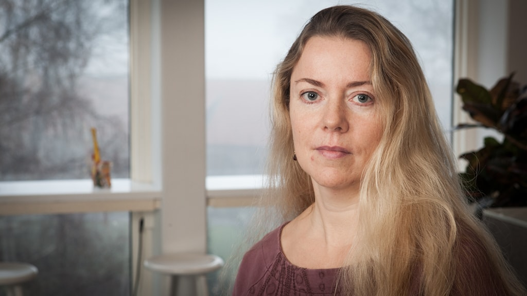 Ci Holmgren, Sveriges Radio Ekot, november 2014. Foto: Pablo Dalence/Sveriges Radio.