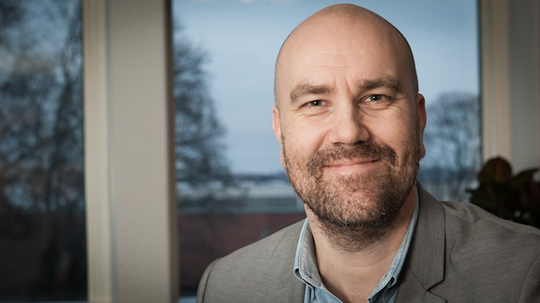Claes Aronsson, Sveriges Radio Ekot, november 2014. Foto: Pablo Dalence/Sveriges Radio.