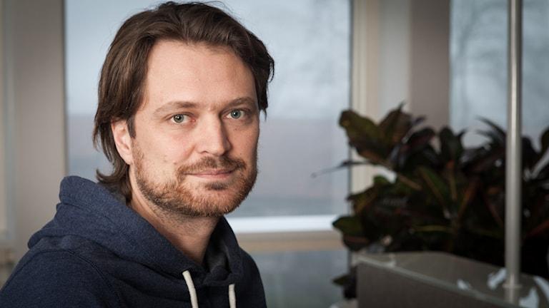 Daniel Velasco, Sveriges Radio Ekot, november 2014. Foto: Pablo Dalence/Sveriges Radio.