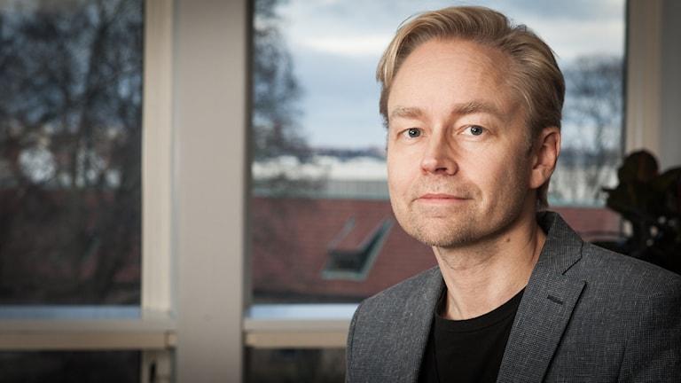 Fredrik Furtenbach, Sveriges Radio Ekot, november 2014. Foto: Pablo Dalence/Sveriges Radio.