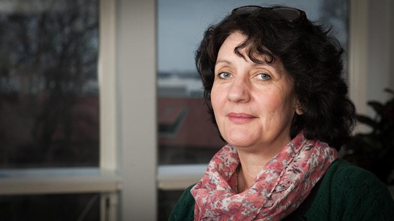 Helena Giege, Sveriges Radio Ekot, november 2014. Foto: Pablo Dalence/Sveriges Radio.