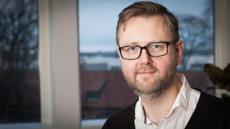 David Henriksson, Sveriges Radio Ekot, november 2014. Foto: Pablo Dalence/Sveriges Radio.