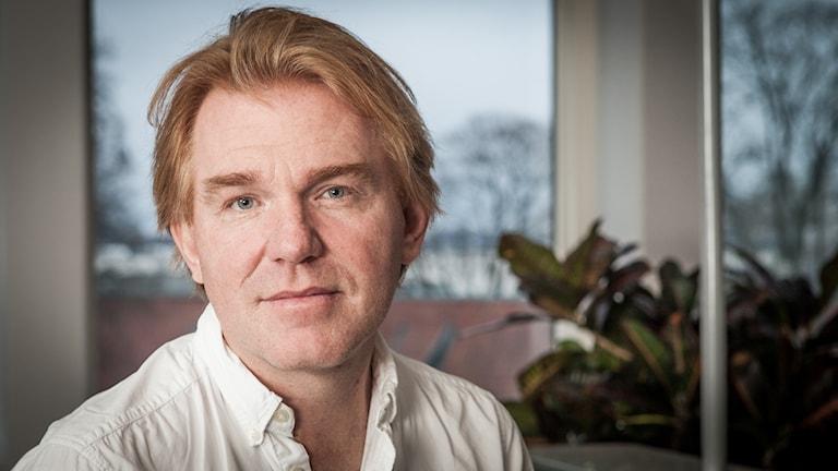Jesper Lindau, Sveriges Radio Ekot, november 2014. Foto: Pablo Dalence/Sveriges Radio.