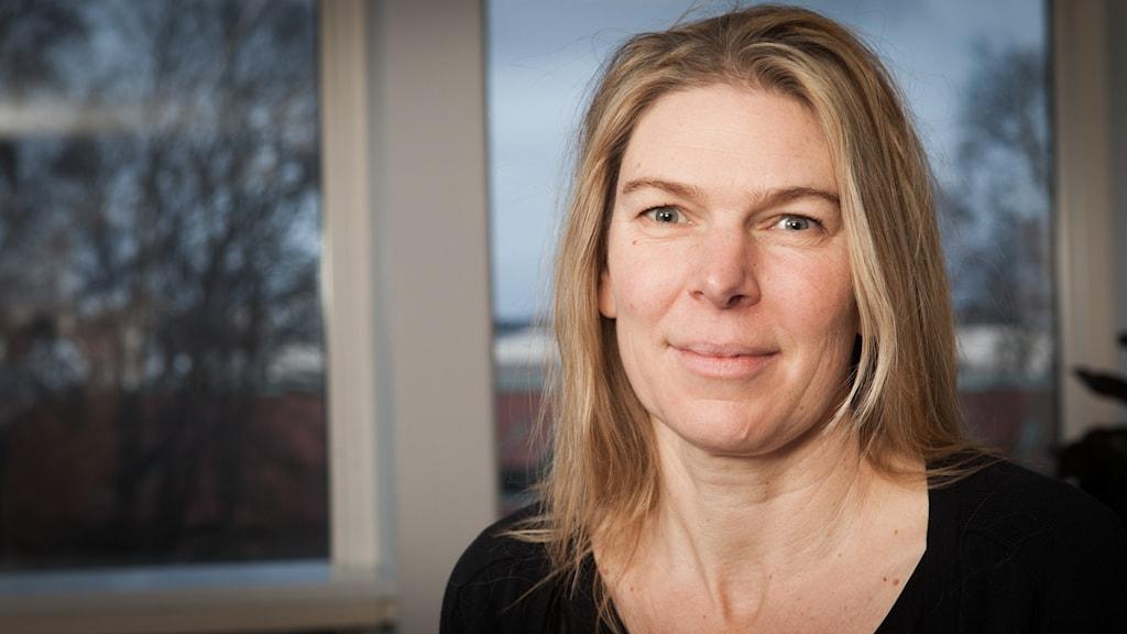 Karin Runblom, Sveriges Radio Ekot, november 2014. Foto: Pablo Dalence/Sveriges Radio.