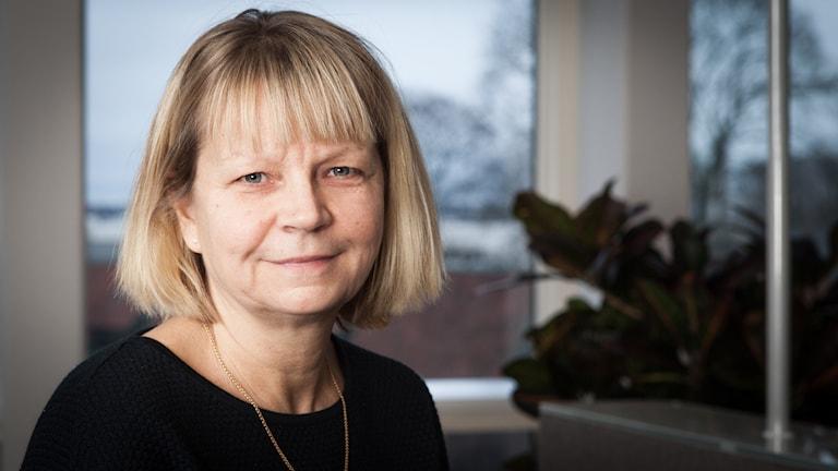 Katarina Höj, Sveriges Radio Ekot, november 2014. Foto: Pablo Dalence/Sveriges Radio.