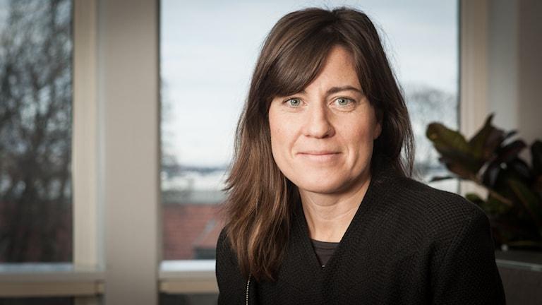 Katarina von Arndt, Sveriges Radio Ekot, november 2014. Foto: Pablo Dalence/Sveriges Radio.