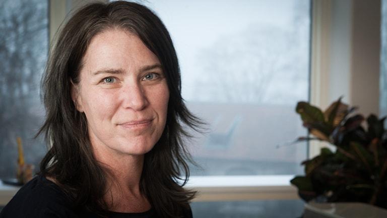 Margareta Svensson, Sveriges Radio Ekot, november 2014. Foto: Pablo Dalence/Sveriges Radio.