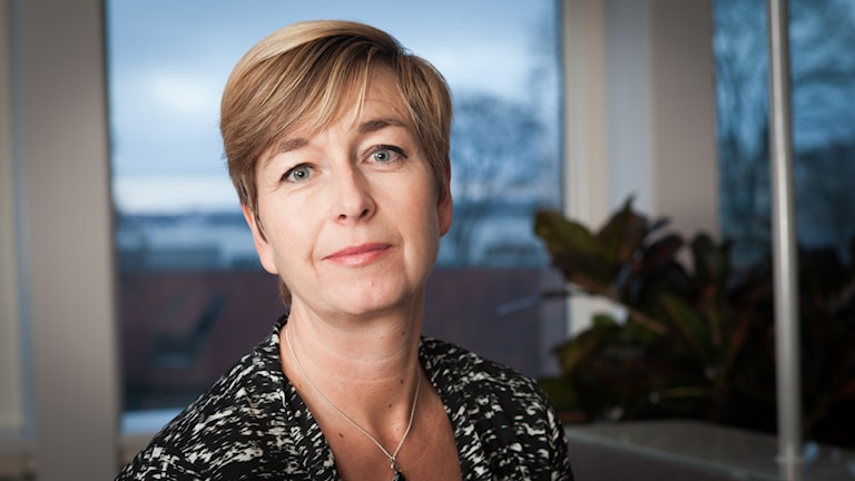 Maria Eksedler, Sveriges Radio Ekot, november 2014. Foto: Pablo Dalence/Sveriges Radio.