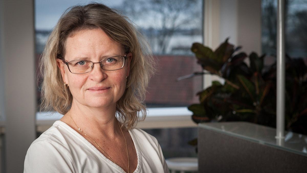 Maria Sjöqvist, Sveriges Radio Ekot, november 2014. Foto: Pablo Dalence/Sveriges Radio.